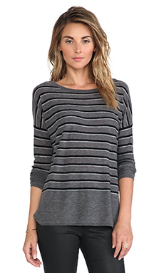 Vince Superwash Stripe Sweater in Thunder Combo