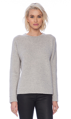 Vince Honeycomb Sweater in Light Heather Grey