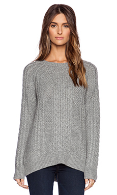 Vince Cable Knit Sweater in Cinder