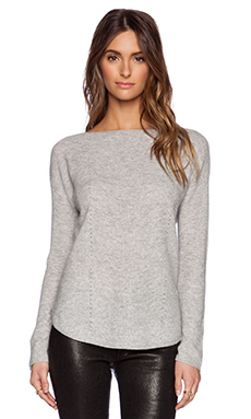 Vince Boat Layout Sweater in Heather Steel