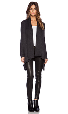 Vince Drape Cardigan in Heather Carbon
