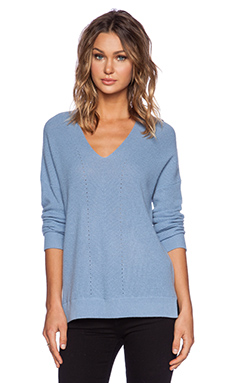 Vince Vee Layout Sweater in Slate Blue