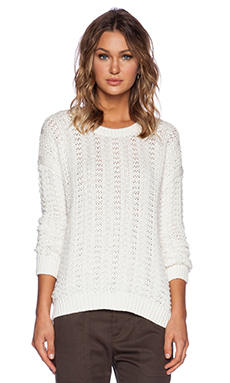 Vince Mercerized Texture Sweater in Cream