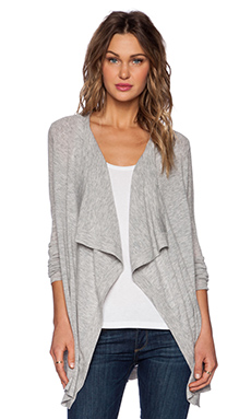 Vince Drape Cardigan in Heather Steel