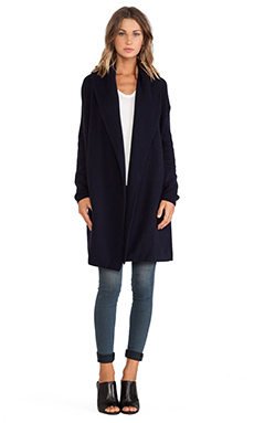Vince Car Coat Sweater in Navy