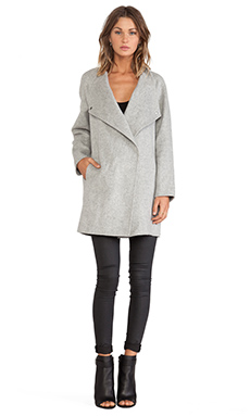 Vince Sweater Back Coat in Light Heather Grey