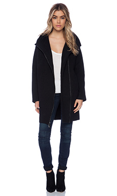 Vince Scuba Coat in Black