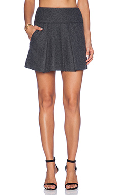 Vince Pleated Skirt in Heather Charcoal