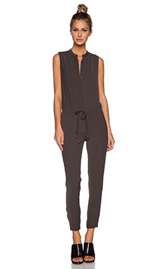 Vince Sleeveless Jumpsuit in Palm
