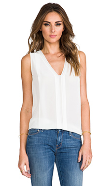 Vince Picot Edge Sleeveless Blouse in Lace