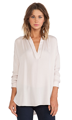 Vince Long Sleeve Popover Blouse in Cameo
