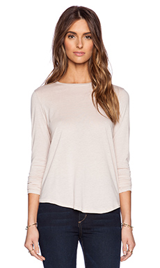Vince Basic Long Sleeve Tee in New Buff