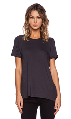 Vince Textured Block Tee in Hematitie