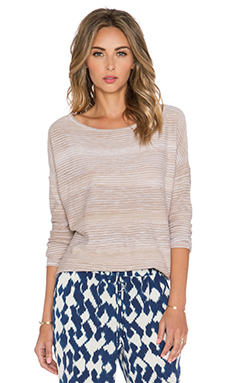 Vince Spacedye Boatneck Top in Sandbar Combo