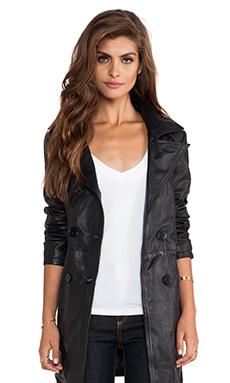 Viparo Jaylen Double Breasted Coat in Black