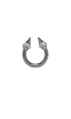 Vita Fede Titan Crystal Ring in Gunmetal/Clear