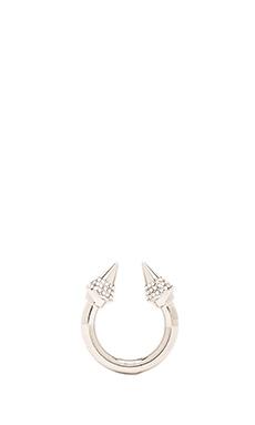 Vita Fede Titan Crystal Ring in Silver/Clear