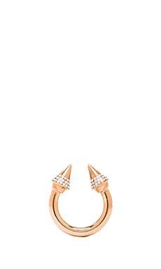 Vita Fede Titan Crystal Ring in Rosegold/Clear