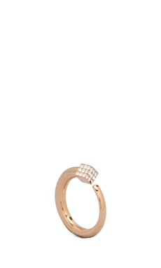 Vita Fede Ultra Eclipse Crystal Midi Ring in Rosegold/Clear