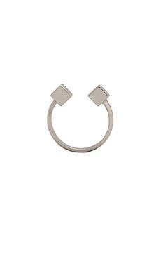 Vita Fede Ultra Double Cubo Ring in Silver