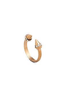 Vita Fede Ultra Mini Titan Crystal Ring in Rosegold/Clear