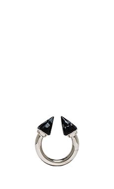 Vita Fede Titan Stone Ring in Silver & Snowflake Obsidian