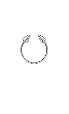 Vita Fede Ultra Mini Titan Ring in Silver & Clear