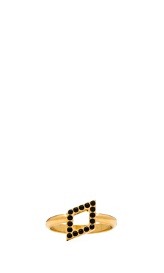 Vita Fede Ultra Mini Rombo Ring in Gold/Black