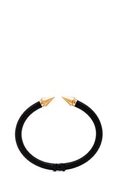 Vita Fede Mini Titan Two Tone Bracelet in Matte Black & Rosegold