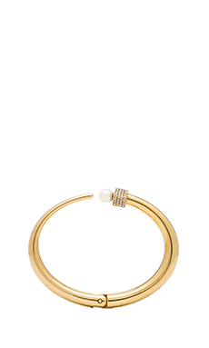 Vita Fede Eclipse Crystal & Pearl Bracelet in Gold