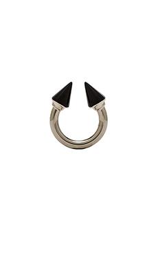 Vita Fede Titan Stone Ring in Silver & Onyx
