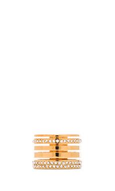 Vita Fede Pila Band Ring in Gold & Rose Gold & Silver