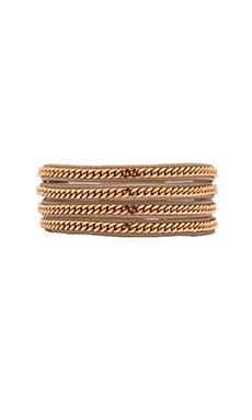 Vita Fede Capri Wrap Bracelet in Nude & Rose Gold