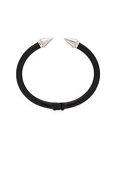 Vita Fede Mini Titan Two Tone Bracelet in Matte Black & Silver