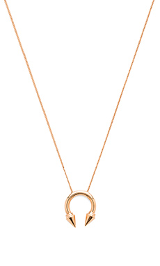 Vita Fede Titan Ring Necklace in Rose Gold