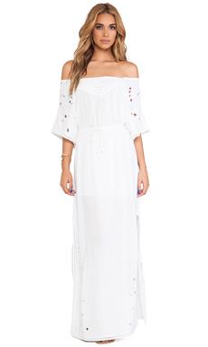 Vix Swimwear Paola Long Dress in Solid White