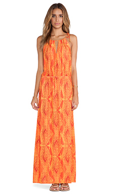Vix Swimwear Menfis Misty Long Dress in Orange