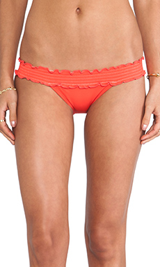 Sofia by Vix Swimwear Rouching Band in Solid Peach