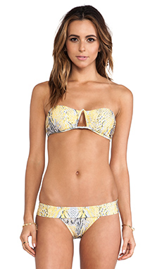 Vix Swimwear Ruda Triangle Bandeau Top in Yellow