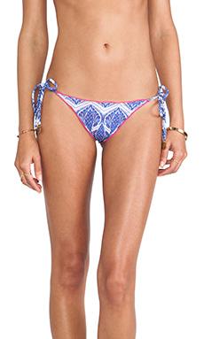 Sofia by Vix Swimwear Siberia Ripple Tie Side Brazil Bottom in Blue