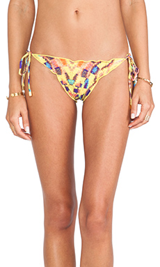 Vix Swimwear Ripple Tie Bikini Bottom in Isis