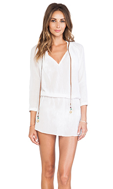 Sofia by Vix Swimwear String Caftan in White