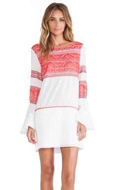 Sofia by Vix Swimwear Kilim Embroidered Short Dress in Multi