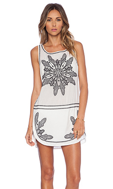 Vix Swimwear Gala Short Dress in Solid White