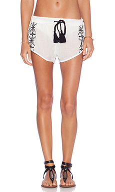 Vix Swimwear Embroidery Short in Solid White