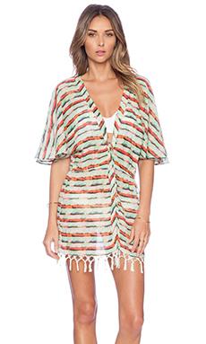 SOFIA by Vix Swimwear Fringe Kimono in Pavlin