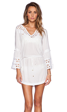 Vix Swimwear Daisy Caftan in Solid White