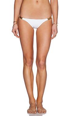 Vix Swimwear Detail Bikini Bottom in White