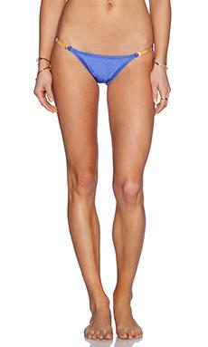 Vix Swimwear Detail Bikini Bottom in Blue Undersea