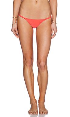 Vix Swimwear String Bikini Bottom in Coral Red